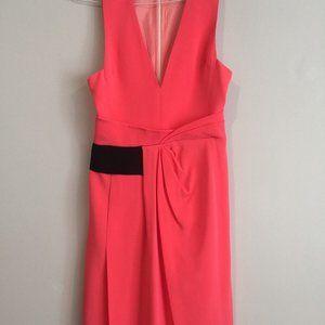 NEW*J. Mendel*Pink w/ Black Waist Dress*US 2*$1895